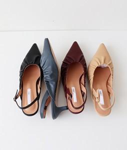 <br> Shirring Sling backs heel (4cm) <br><br>