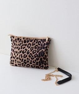 <br> Leopard Clutch with Cross <br> <b><font color=#253952>BAG second place product</font></b>