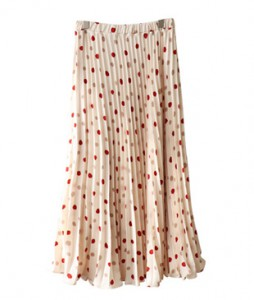 <br> Allock Dot Pleats Skirt <br><br>