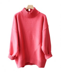 <br> Back Trim Wool Boxy Long Knit <br><br>