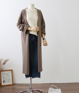 <br> Wool incision Long Cardigan <br><br>