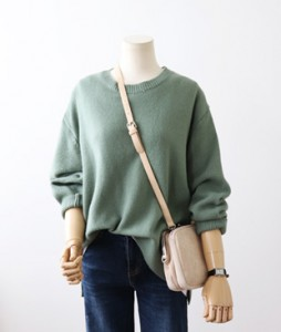 <br> Ramswool Round Boxy Knit <br> [Return can not be exchanged]