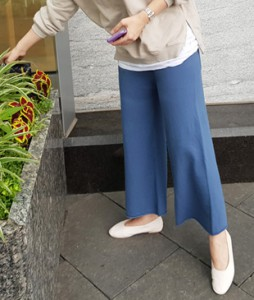 <br> Cashmere Knit Thong Pants <br> [restock]