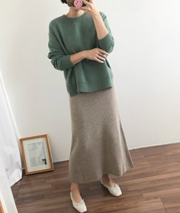 <br> Dot Wool Aline Knit Skirt <br><br>
