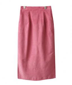 <br> Rear Bending Corduroy H Skirt <br><br>