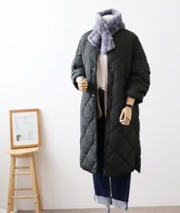 <br> two-way fastening quilting Long Jacket <br> [Return can not be exchanged]