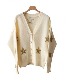 <br> pearl star V-neck Cardigan <br><br>