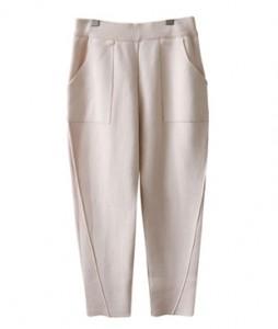 <br> Pocket Incision Knit Baggy Pants <br><br>