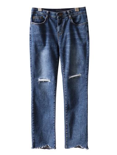 <br> Padding Vintage Straight Denim Pants <br><br>