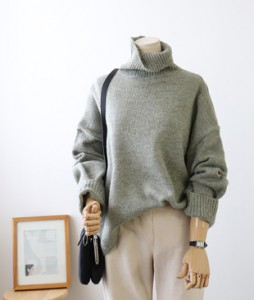 <br> Span Boxy Turtle Knit <br><br>