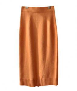 <br> shibori Wool trim Knit Skirt <br><br>
