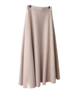 <br> feminine Flare Knit Skirt <br><br>