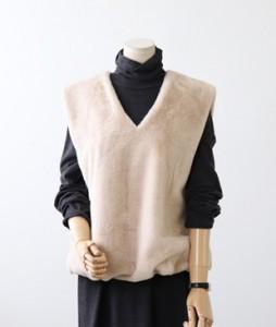 <br> Hem Banding Mink Vest <br><br>