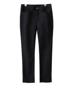 <br> Span Black Straight Pants <br><br>