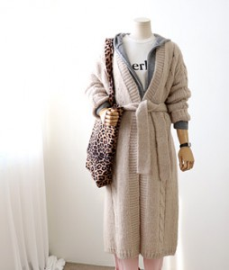 <br> Alpaca String Long Cardigan <br><br>
