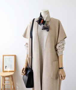 <br> Jaynie Open Wool Long Vest <br><br>