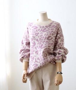 <br> Boxy Leopard Knit <br><br>