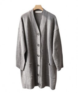 <br> Merino Wool Harp Button Cardigan <br><br>