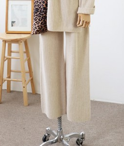 <br> Cache Corrugated Weave Knit Pants <br><br>