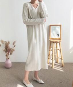 <br> Twiddle V-neck Long Dress <br><br>