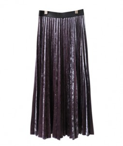<br> Mono Velvet Pleats Skirt <br> [Return can not be exchanged]