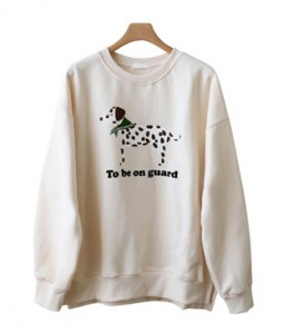 <br> Dalmatian Man to man Tee <br> <b><font color=#253952>TOP 3</font></b>