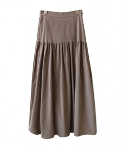 <br> Corduroy Shirring Skirt <br><br>