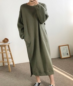 <br> Sheepskin Round Long Dress <br><br>