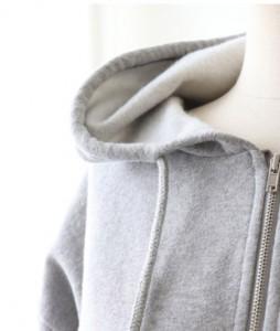 <br> Cotton Hood Zip Up <br><br>