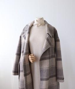 <br> Alpaca Handmade Check Coat <br><br>