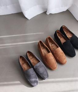 <br> suede Fur loafer <br>