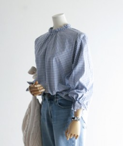 <br> ster Check blouse <br><br>