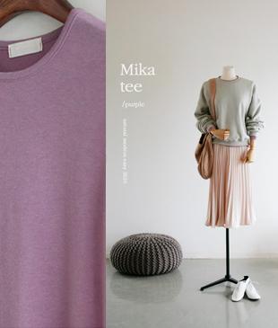 <FONT color=#d8a4a4>[50% Accompanying Sale!]</font> mika Tencel Tee <br>