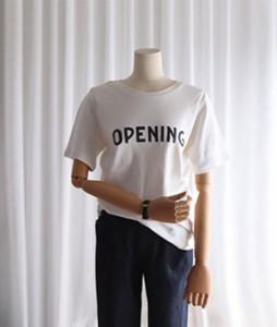 Nano opening T-shirt <br>