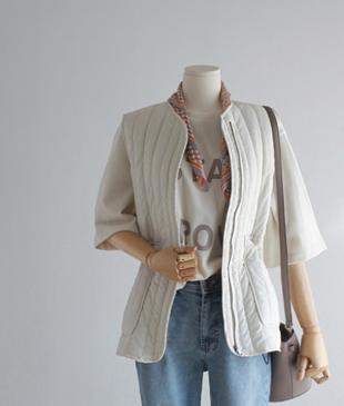 String zipper vest <br>