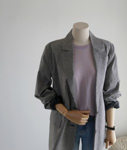 [Limited quantity! 30% off!] off Check jacket <br>