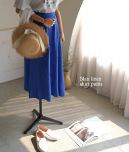 Blan Linen[948] skirt pants <br>