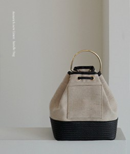 Linen Handle[329] bag <br>