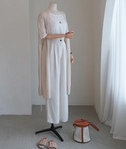 Vain linen long[609] cardigan <br>