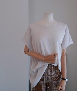Sia linen knit[603] tee <br>