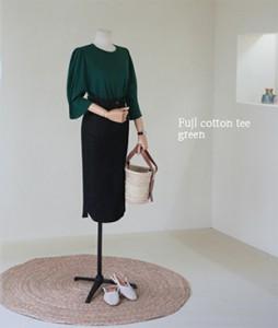 Fujl cotton[988] tee <br>