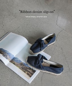 Ribbon Denim [402] slipon <br>