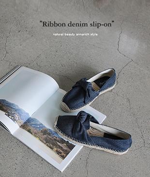 Ribbon Denim [402] slipon <br>
