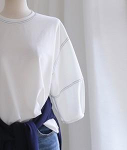 Clean stitch[628] tee <br>