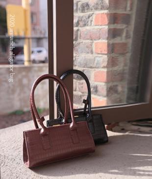 Alligator handle[985] bag<br>