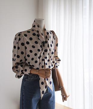 Londry Dot[163] blouse<br>