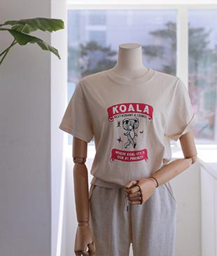 Koala printing02 tee<br>