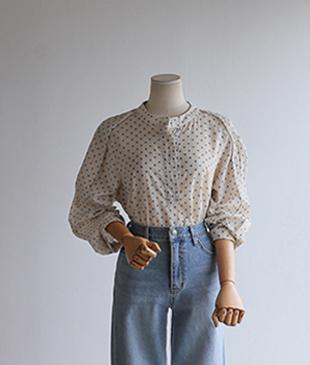 New dot cotton 96 blouse<br>